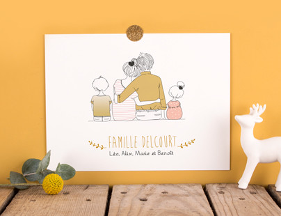 Affiche personnalisable Lovely Family