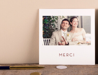 modle de carte de remerciement mariage photo polaroid - Modele Carte Remerciement Mariage